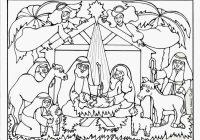 Christmas Nativity Coloring Pages With For Adults To Print Free
