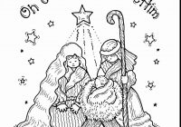 Christmas Nativity Coloring Pages With To Print Free Books