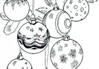 Christmas Ornaments Coloring Page A Ornament Coloring Pages Or ..