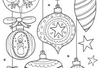 Christmas Ornaments Coloring Pages For Adults With Baumkugeln Zum Anmalen Printables Pinterest