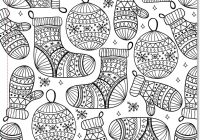 Christmas Ornaments Coloring Pages For Adults With Best Kids