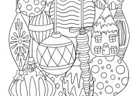 Christmas Ornaments Coloring Pages For Adults With Free Ornament Page Tgif This Grandma Is Fun
