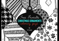Christmas Ornaments Coloring Pages Printable With Adult Page U Create