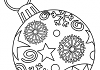 Christmas Ornaments Coloring Pages Printable With Free For Kids Paper