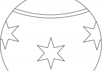 Christmas Ornaments Coloring Pages Printable With Round Ornament Page Free