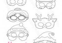 Christmas Printable Coloring Masks – Christmas Coloring Masks
