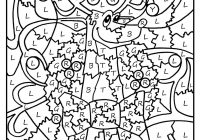 Christmas Reading Coloring Sheets With Color By Number Pages Printable