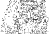 Christmas Reading Coloring Sheets With Hard Refrence