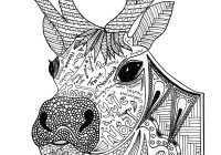 Christmas Reindeer Coloring With Adult Page FaveCrafts Com