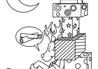 Christmas Reindeer Coloring With Sleeping Pages Hellokids Com