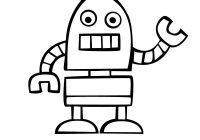 Christmas Robot Coloring Pages With Beep