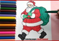 Christmas Santa Claus Coloring Pages With For Preschoolers From