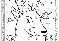 Christmas Santa S Reindeer Coloring Pages With Comet The Throughout Animage Me