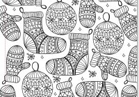 Christmas Tree Coloring Pages For Adults With Free Books