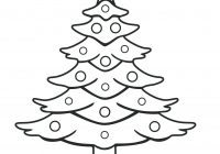 Christmas Tree Coloring Pages For Adults With Free Printable