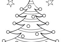 Christmas Tree Coloring Pages With Free Colourings