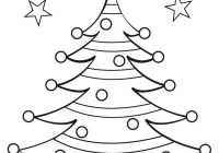Christmas Tree Coloring Pictures With Pages