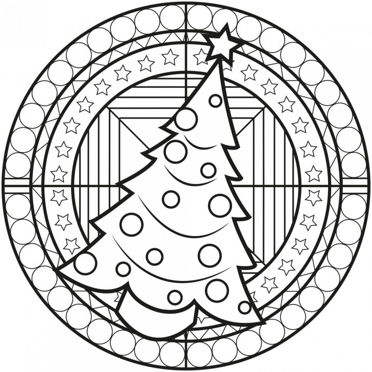 Permalink to Christmas Coloring Pages Mandala
