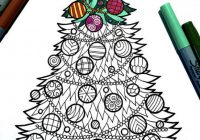 Christmas Tree – PDF Zentangle Coloring Page in 19 | sketch ..