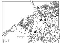 Christmas Unicorn Coloring Pages With ADULT COLORING PAGE And Chickadees Theme Pine