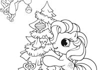 Christmas Unicorn Coloring Pages With My Little Pony Page Books