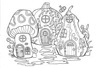 Christmas Village Coloring Book With Fairy Merry Day13 Pages Pinterest