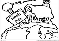 Christmas Village Coloring Pages Printable With North Pole Download Free Books