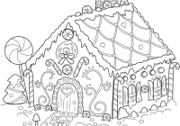 Christmas Village Coloring Pages Printable With Page For Kids