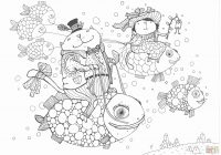 Christmas Village Coloring Pages Printable With Quebec Flag Page