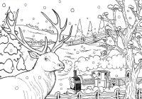 Christmas Village Coloring Pages Printable With Thomas Sheets For Children Pictures
