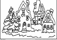Christmas Village Coloring Pictures With Free Pages Daily New 2018 JumboLetter