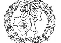 Christmas Wreath Coloring Pages To Print With Simple Drawing Inspirational Wreaths