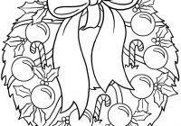 Christmas Wreath Coloring Pages With Http Colorings Co Sheets
