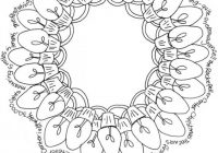 Christmas, yule, holiday light wreath Coloring page free to print ..
