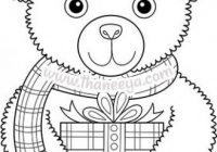 Color Christmas Coloring Book Teddy Bear | Templates | Pinterest ..