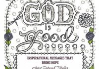 COLORING BOOK God is Good Inspirational Art to Color You be the ..