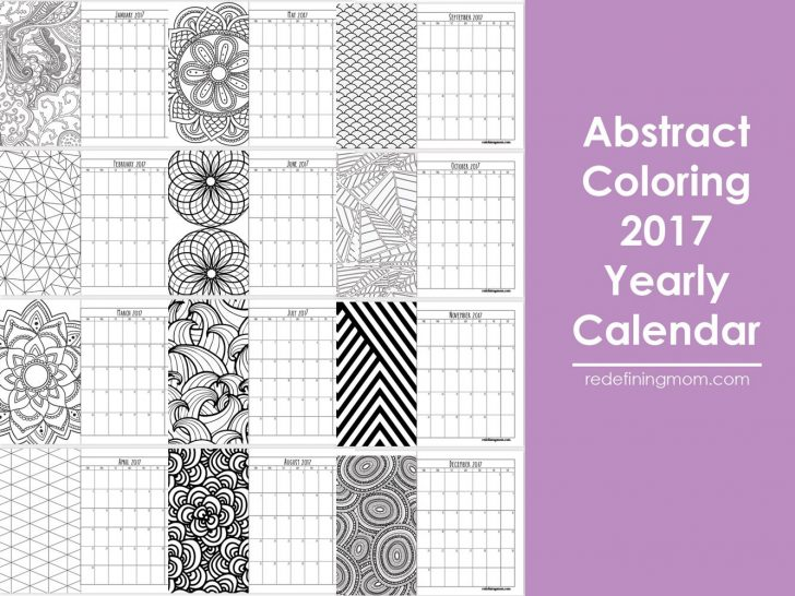 Permalink to Coloring Calendar For Adults 2019