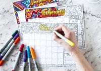 Coloring Calendar For Adults 2019 With Art Therapy Sarah Renae Clark