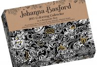 Coloring Calendar For Adults 2019 With Johanna Basford Day To