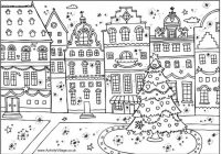 Coloring Ideas : Folk Art Christmas Coloring Book Printable Happy ..