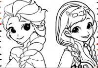 Coloring Pages Disney Frozen Cartoon Elsa and Anna Coloring Book ..
