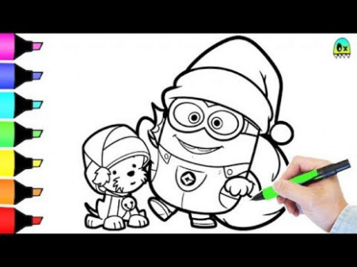 Permalink to Christmas Coloring Pages Minions