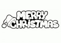 Coloring Pages Of Merry Christmas With Awesome Cartoon Gallery Printable