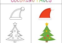 Coloring Santa Hats With Book Page Christmas And Vector Image