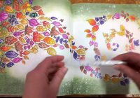 Colouring Book Enchanted Forest Walk through with tips and coloured ..
