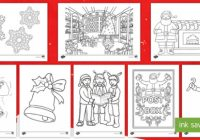 Colouring Sheets Christmas – KS20 Primary Resources – Christmas Colouring Pages Maths