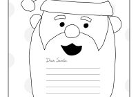 Dear Santa Letter Coloring Page With ColoringPage Christmas Pinterest And