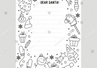 Dear Santa Letter Coloring Page With Stock Vector Royalty Free