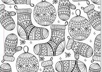 Detailed Christmas Coloring Pages Free Printable With For Adults To Print