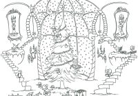Detailed Christmas Coloring Pages Free Printable With New Disney Princess Gallery
